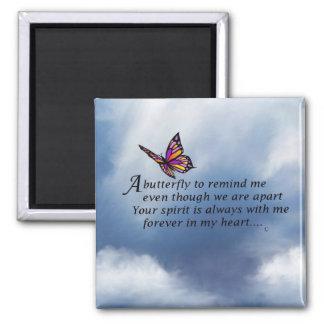 Poema del monumento de la mariposa imanes