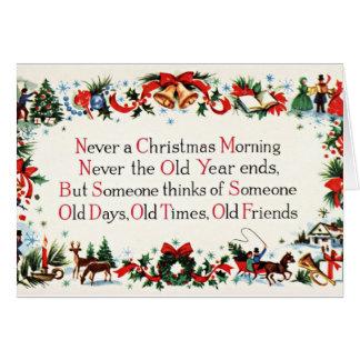 Poema del navidad del vintage tarjetón