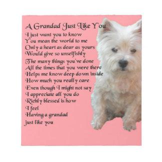 poema del oeste del Grandad de Terrier de la Bloc De Notas