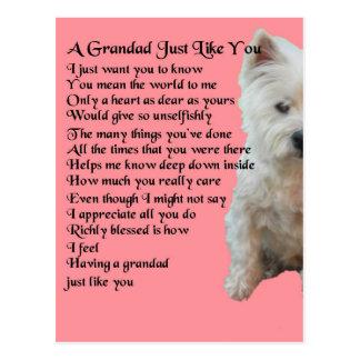 poema del oeste del Grandad de Terrier de la Postal