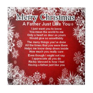 Poema del padre - diseño del navidad teja