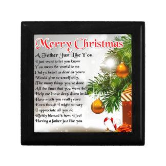 Poema del padre - diseño del navidad caja de regalo
