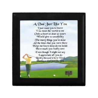 Poema del papá - diseño del golf joyero