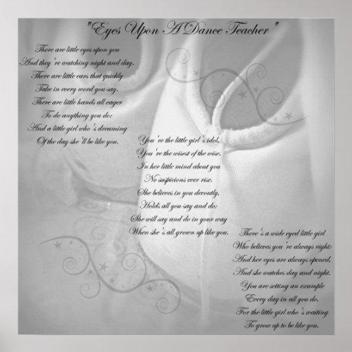 Dance Teacher Poem