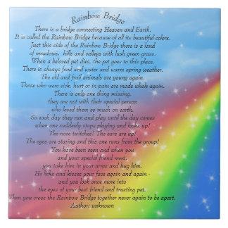 Poema del puente del arco iris teja de 6 pulgadas