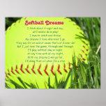 Poema del softball impresiones
