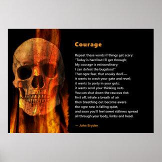 Poema del valor para banishing el miedo - poster póster