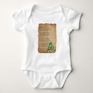 Poema delantero del navidad de la broma 'cerca: body para bebé