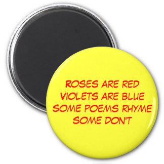 poema divertido imán redondo 5 cm