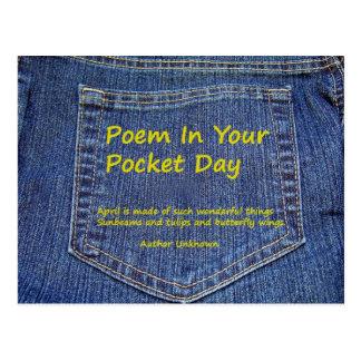 Poema en su postal del día del bolsillo
