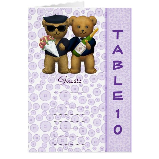 Poema gay del oso de peluche de la lila del número felicitación