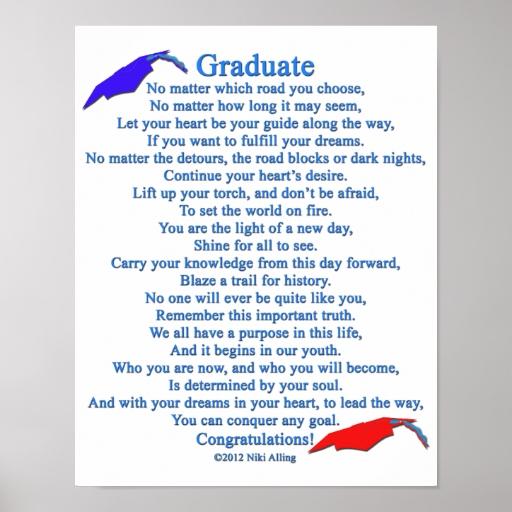 Poema graduado poster | Zazzle