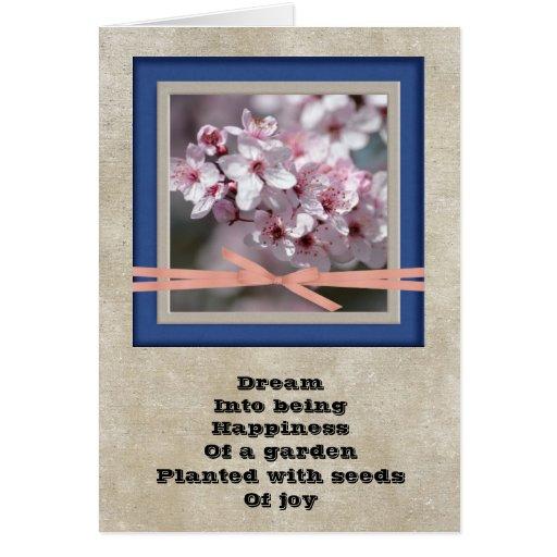 Poema ideal floral tarjetas