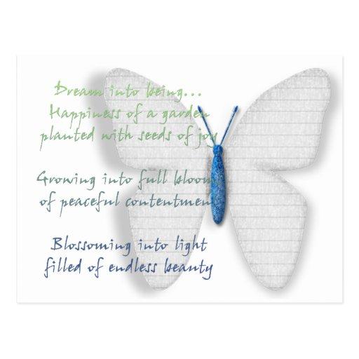 Poema ideal inspirado tarjetas postales