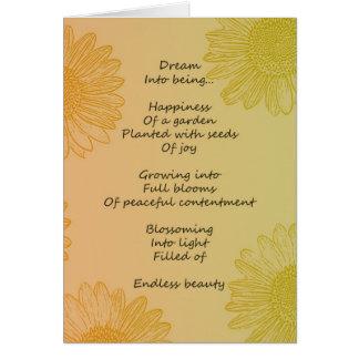 Poema ideal tarjeta de felicitación