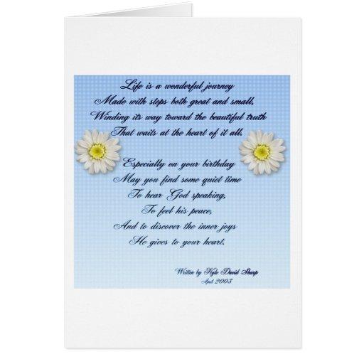 Poema maravilloso del cumpleaños del viaje felicitaciones