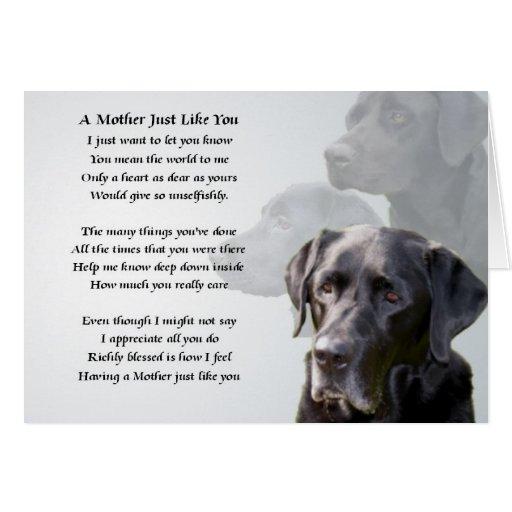 Poema negro de la madre de Labrador Felicitación