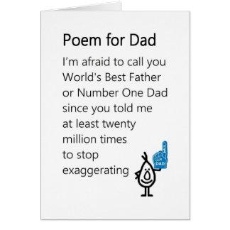 Poema para el papá - un poema divertido del día de tarjeta