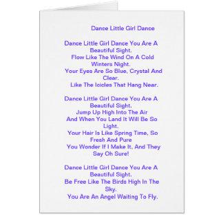 Poema para la hija/la hija del paso/la hija magníf tarjeta de felicitación