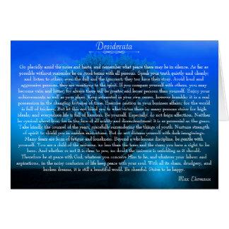 Poema piadoso inspirado de los desiderátums tarjeta de felicitación