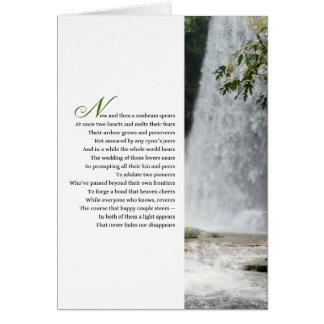Poema que desea un gran futuro para la novia y el tarjeta de felicitación