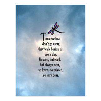"""Poema """"tan amado"""" de la libélula postal"""