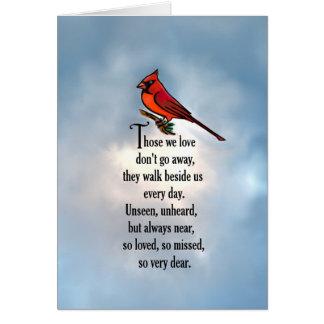 """Poema """"tan amado"""" del cardenal tarjeta de felicitación"""