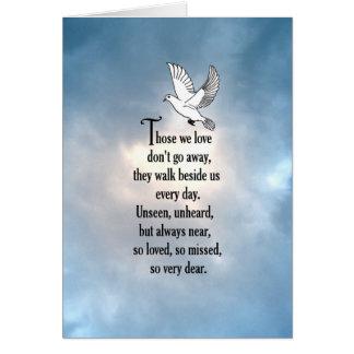 """Poema """"tan amado"""" del pájaro tarjeta de felicitación"""