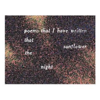 poemas que he escrito ese girasol a noche postal