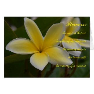 Poemas sobre las flores tarjeta de felicitación