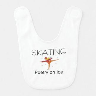 Poesía patinadora SUPERIOR Baberos De Bebé