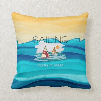 Poesía SUPERIOR de la navegación Cojín Decorativo