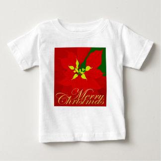Poinsettia Camiseta De Bebé