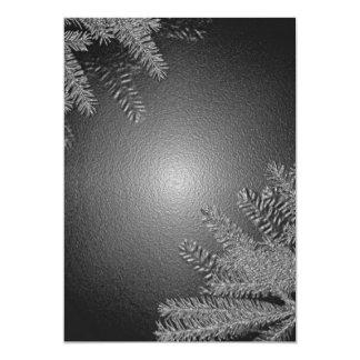 Poinsettia del navidad negro y gris I Anuncio Personalizado