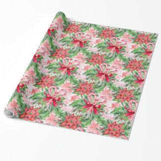 Poinsettia Papel De Regalo