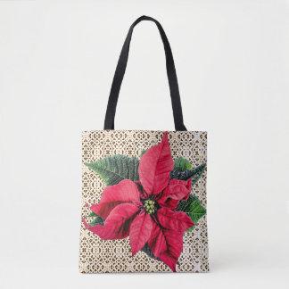 Poinsettia y la bolsa de asas de los días de