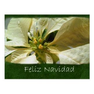 Poinsettias amarillos 1 - Feliz Navidad Postal