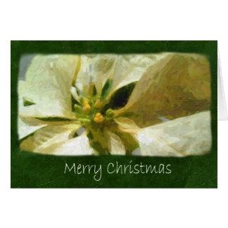 Poinsettias amarillos 1 Painterly - Felices Navida Tarjeta De Felicitación