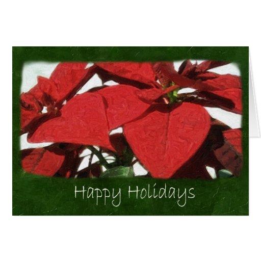 Poinsettias rojos 2 - buenas fiestas felicitación