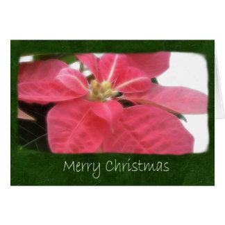 Poinsettias rosados 2 - Felices Navidad Tarjeta De Felicitación