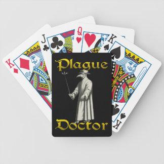 Póker europeo del traje del pico del doctor Roma Baraja Cartas De Poker