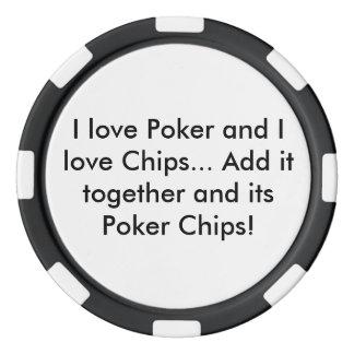Póker y ficha de póker de los microprocesadores juego de fichas de póquer