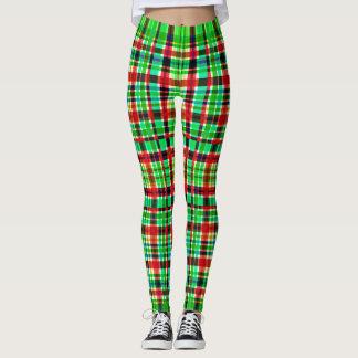 Polainas a cuadros verdes y rojas leggings