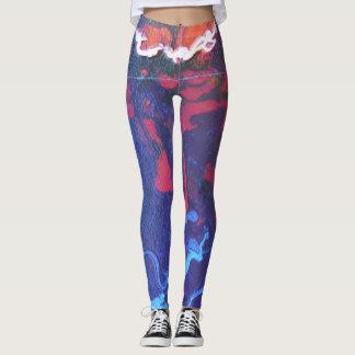 Polainas abstractas azules leggings