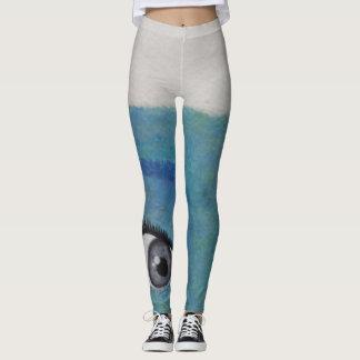 Polainas adolescentes pintadas únicas de las leggings