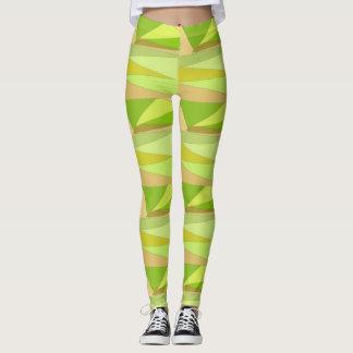 Polainas amarillas, rosadas, y verdes de los leggings
