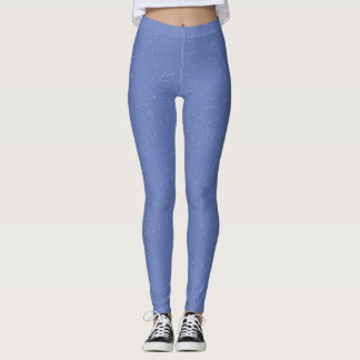 Polainas azules claras y blancas leggings