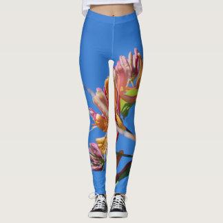 Polainas azules florales leggings