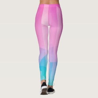 Polainas azules rosadas leggings