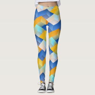 Polainas azules y amarillas del modelo leggings